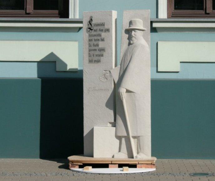 Klaipėdoje penktadienį bus atidengtas paminklas J.Zauerveinui.