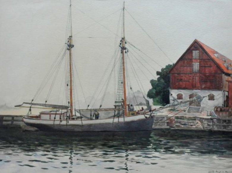 Parodoje bibliotekos lankytojai išvys ir unikalius G.Boese tapybos darbus.