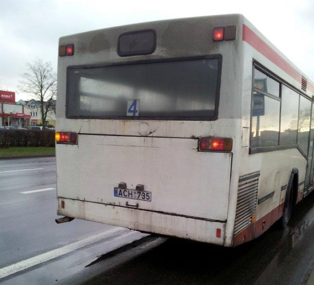 Aprūkęs Klaipėdos autobusas