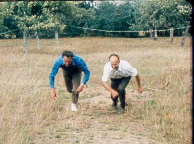 Broliai Adolfas ir Jonas Mekai.