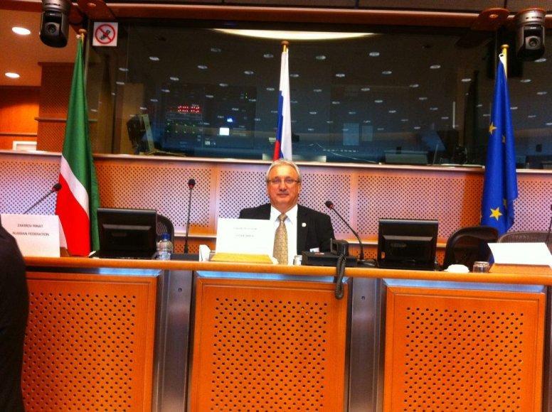 Fliuras Šaripovas Europos Parlamento būstinėje Briuselyje.