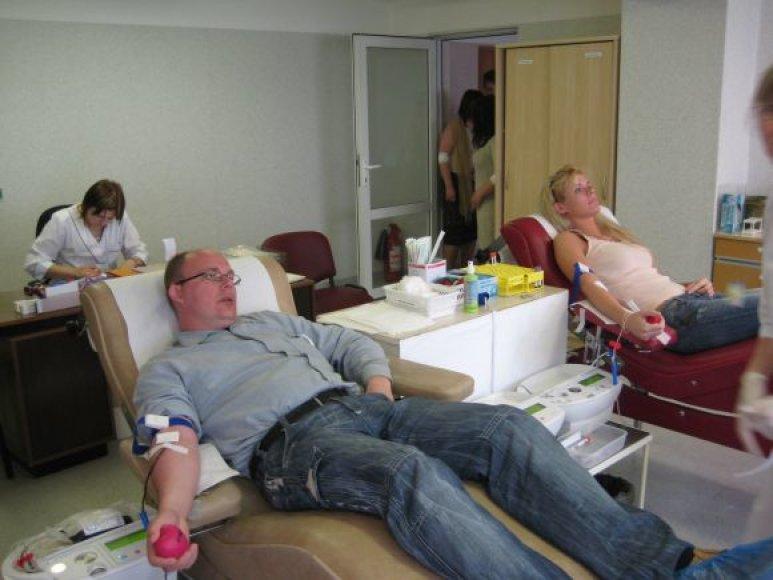 Per mėnesį Klaipėdoje neatlygintinai kraujo duoda apie 300 donorų.