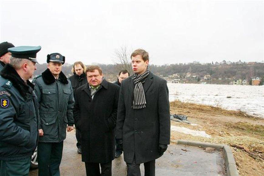 Kauno meras A.Kupčinskas (dešinėje)