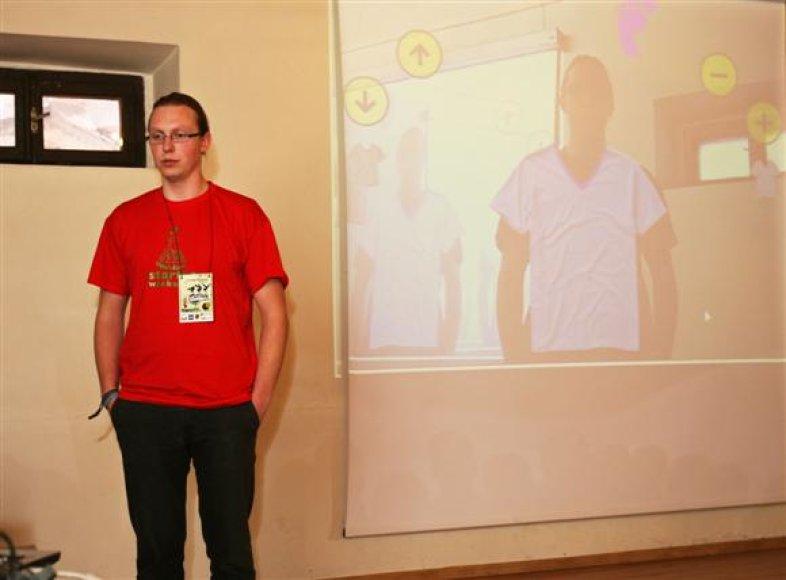 Informatiką studijuojančio T.Kleinausko suburtos komandos projektas jau netrukus turėtų būti pritaikytas realybėje.