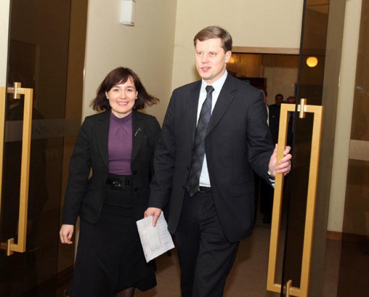 Andrius Kupčinskas ir Edita Gudišauskienė