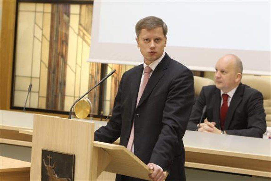 Antrą kartą meru išrinktas Andrius Kupčinskas