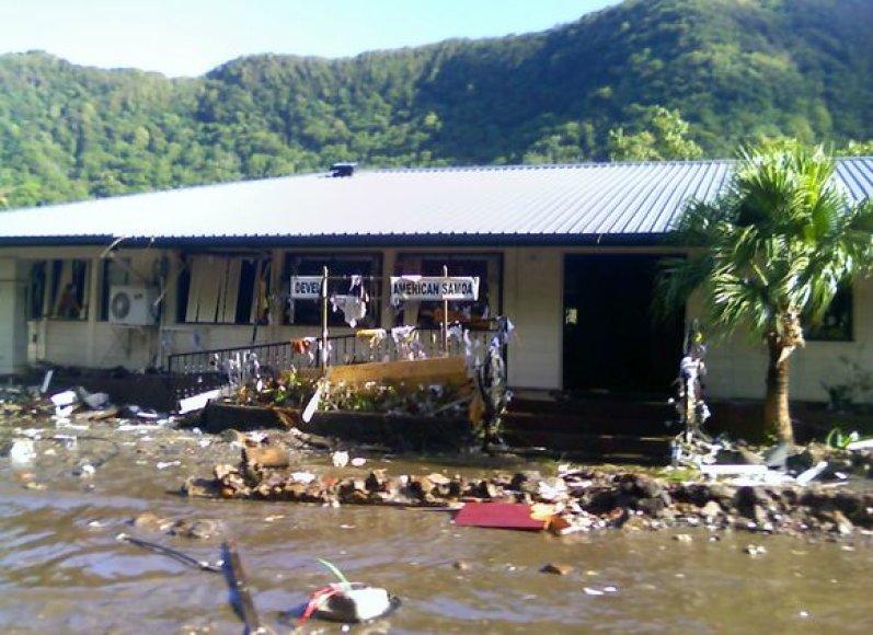 Potvyniai po cunamio bangos