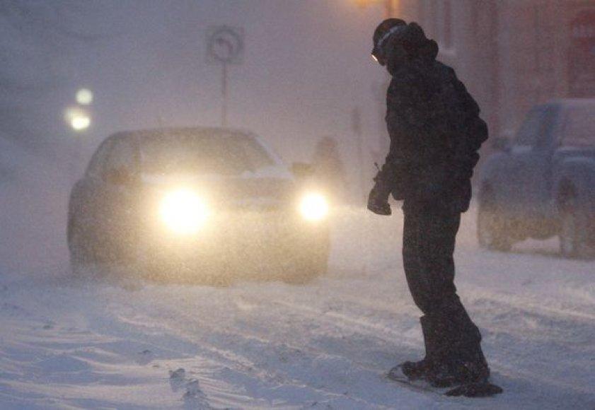 Sniego audros JAV