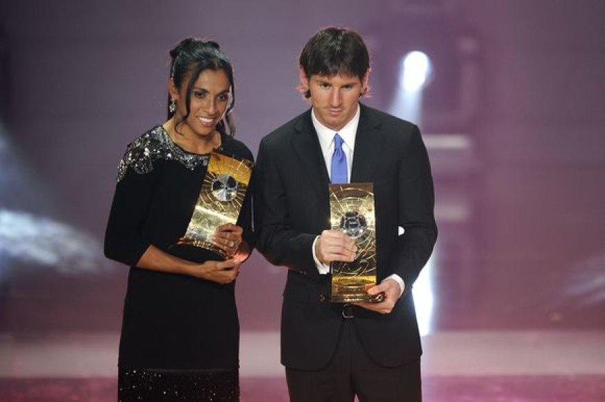 2009 – Marta (Brazilija) su L.Messi