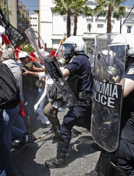 Graikijoje vyksta protestai