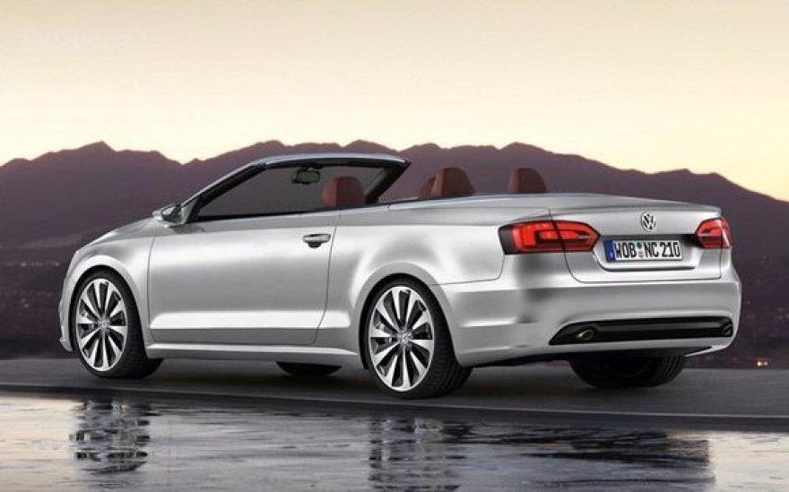"""Volkswagen Passat"" kabrioleto eskizas"