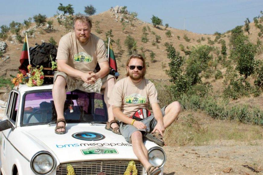 Foto naujienai: Martynas Starkus ir Vytaras Radzevičius: ir vėl – į kelionę!