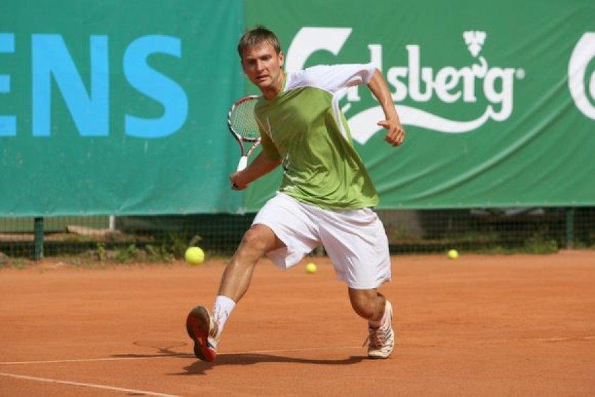"""G. Sabeckis ITF serijos """"Prezidento taurės"""" vyrų teniso turnyre"""