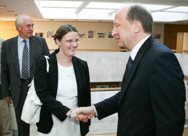 A.Kubilius susitiko su TVF misijos Lietuvoje vadove C. Purfield.