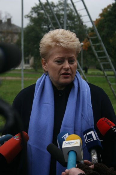 Dalia Grybauskaite Klaipėdoje