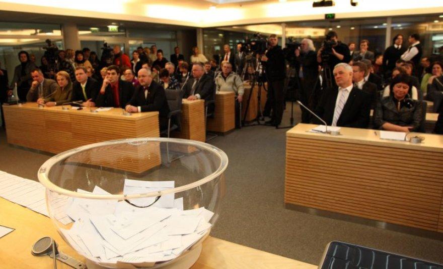 Partijos vakar išsidalino 23 rinkiminius numerius iš 145, likusius trauks save išsikėlę kandidatai. A.Žygavičiaus nuotr.