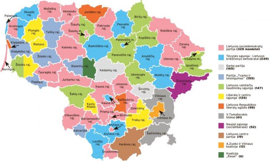 Rinkimų rezultatai Lietuvos savivaldybėse