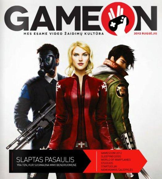 "El. žurnalo ""GameON"" viršelis."