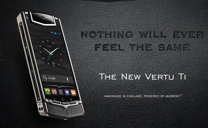 """Prabangaus išmaniojo telefono """"Vertu Ti"""" reklama"""