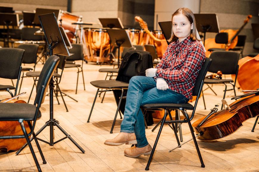 Ryčio Šeškaičio nuotr./Ramunė Barbora Martyno Levickio repeticijoje su orkestru