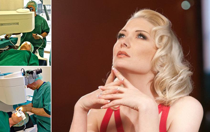 Natalijai Bunkei buvo atlikta dešinės akies operacija