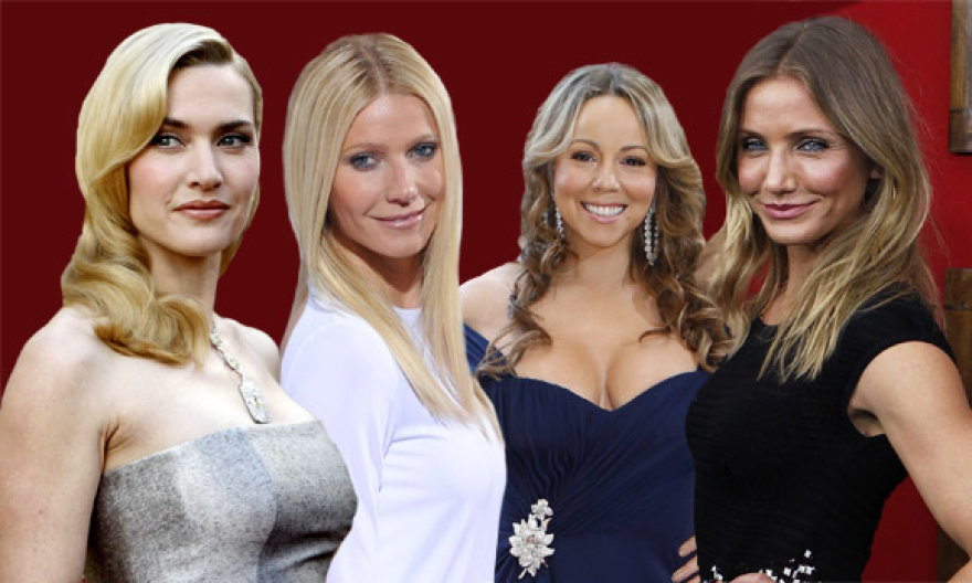 Garsios ir gražios: Kate Winslet, Gwyneth Paltrow, Mariah Carey, Cameron Diaz