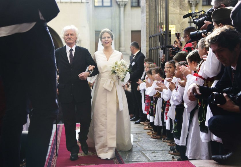 """""""Scanpix"""" nuotr./Serbijos princo Philipo ir menininkės Danicos Marinkovič vestuvės"""
