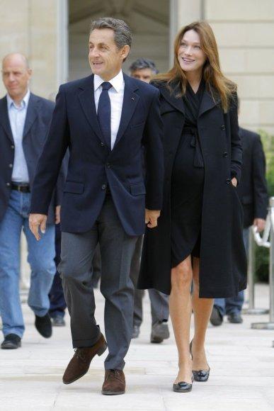 Nicolas Sarkozy ir Carla Bruni-Sarkozy