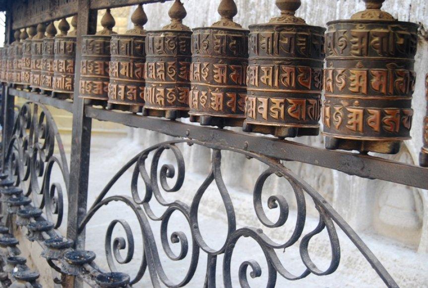 Budistų maldų siena
