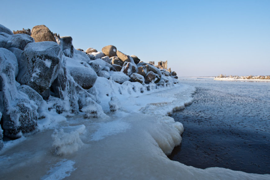 Žiema Šventosios paplūdimyje