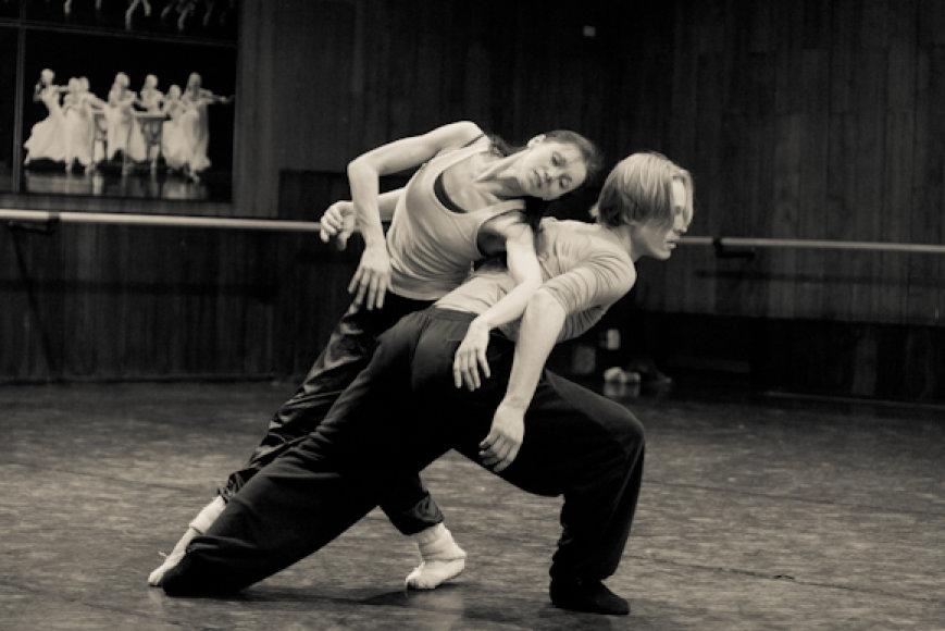 Baleto artistai meno vadovui pristatė savo choreografines miniatiūras