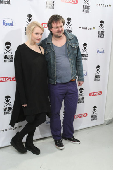 Eglė Žiemytė su vyru Simonu Gedžiumi