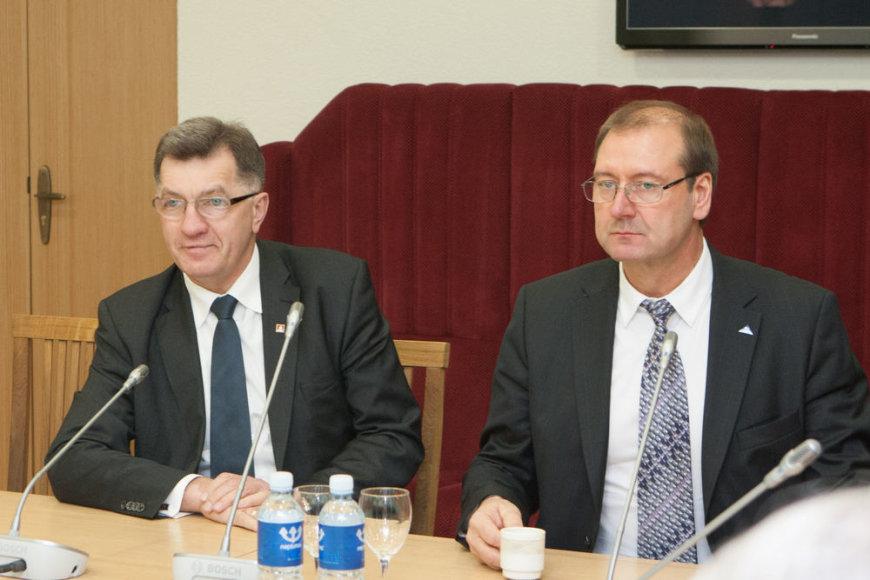 Algirdas Butkevičius ir Viktoras Uspaskichas