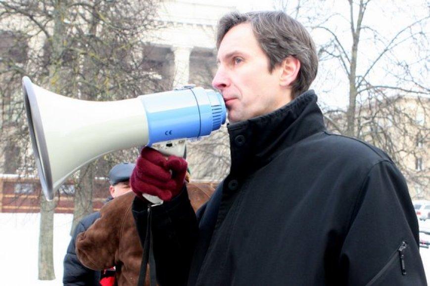 """Partijos """"Socialistinis liaudies frontas"""" lyderis Algirdas Paleckis"""