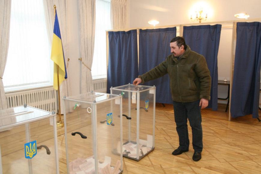 Ukrainos prezidento rinkimai Vilniuje