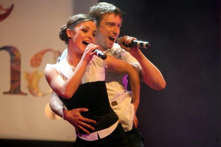 Atlikėja Irūna ir Marius Jampolskis