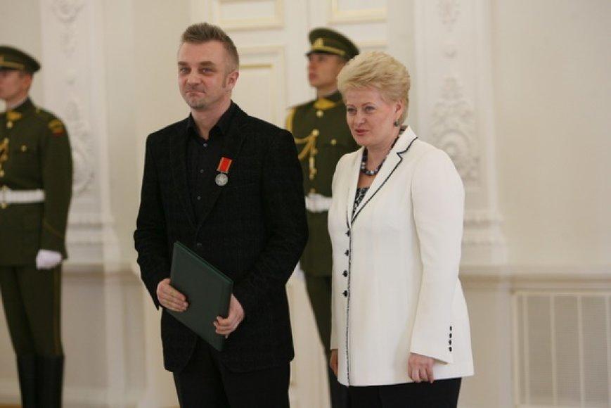 Apdovanojamas Andrius Mamontovas