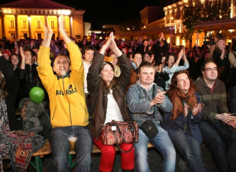 Vilniečiai stebėjo Eurovizijos dainų konkursą