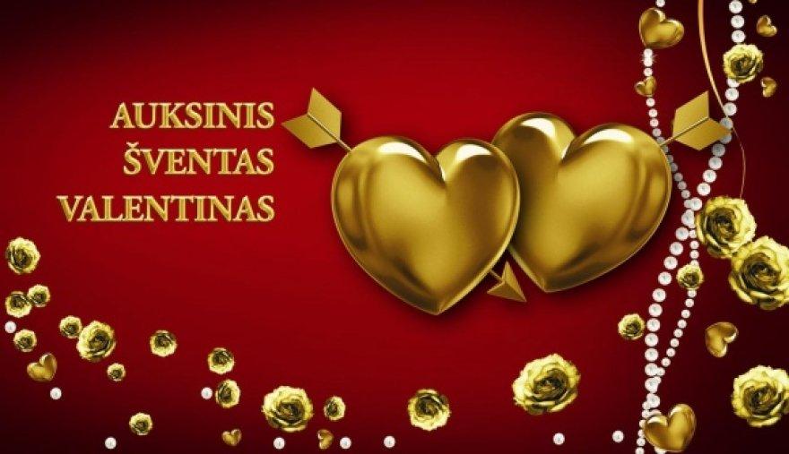 """Laidos """"Auksinis Valentinas"""" logotipas"""