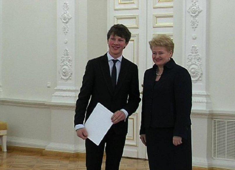 M.Levickis su šalies prezidente D.Grybauskaite
