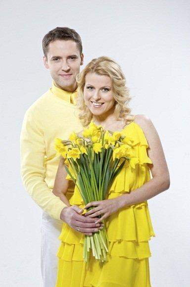 Laidos vedėjai Rolandas Vilkončius ir Rūta Mikelkevičiūtė