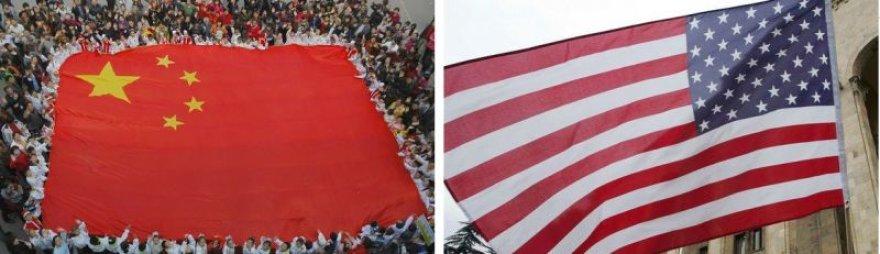 Kinijos ir Jungtinių Valstijų vėliavos