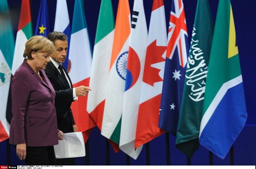 Vokietijos kanclerė Angela Merkel ir Prancūzijos prezidentas Nicolas Sarkozy