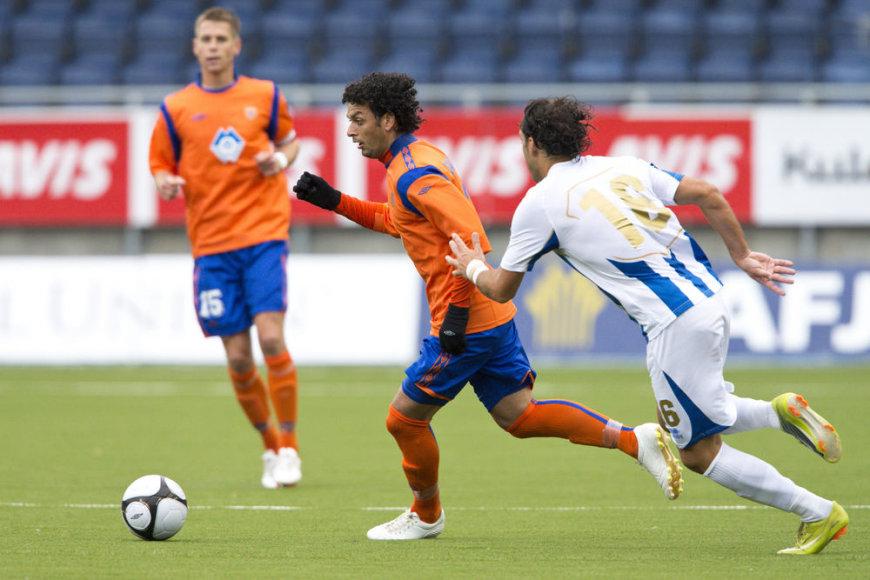 """Įtarimą sukėlusių """"Tirana"""" ir """"Aalesund"""" klubų rungtynių akimirka"""