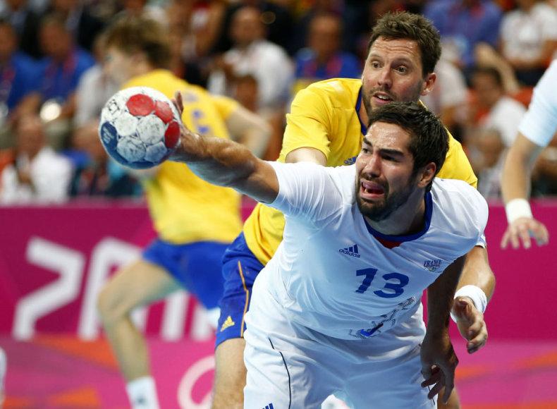 Nikola Karabatičius ir Prancūzijos rankininkai finale palaužė Švedijos pasipriešinimą.