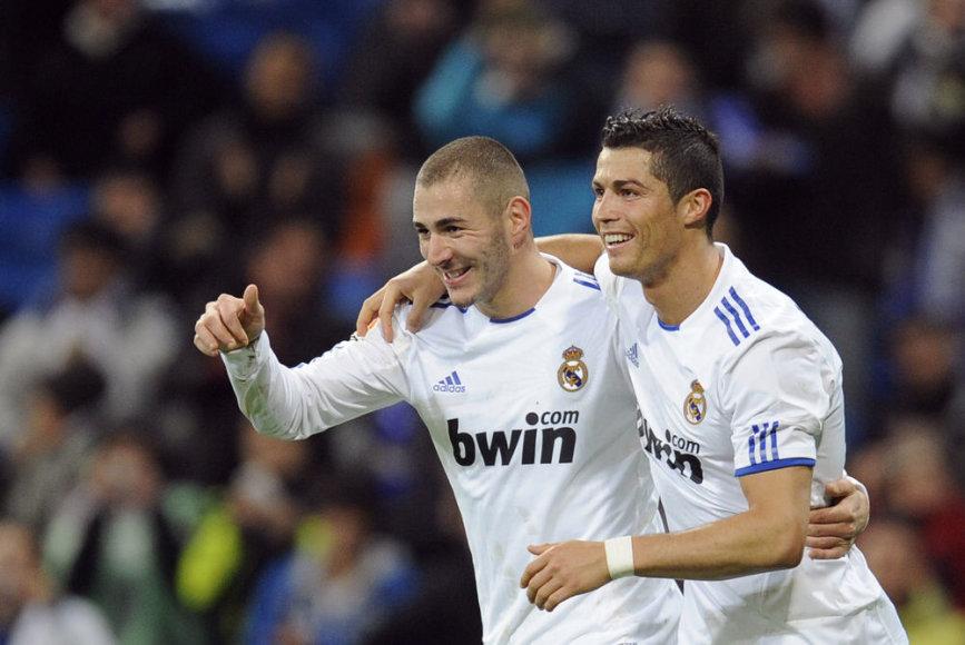 Karimas Benzema ir Cristiano Ronaldo