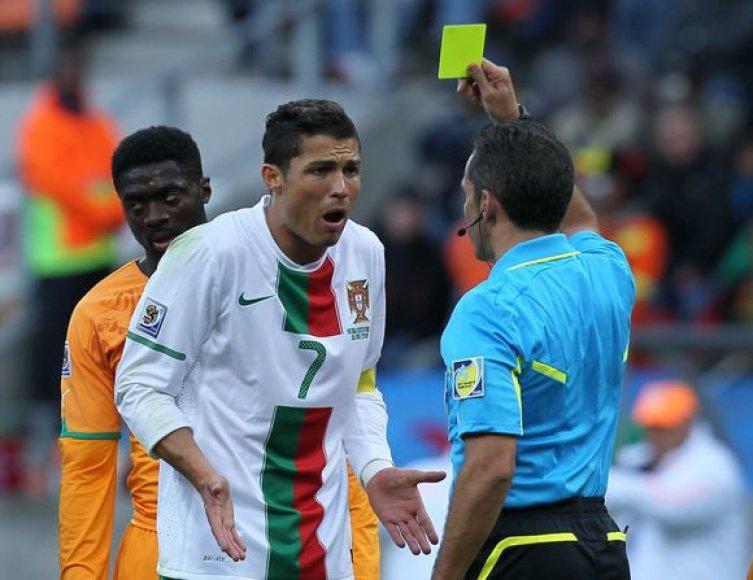 C.Ronaldo baudžiamas