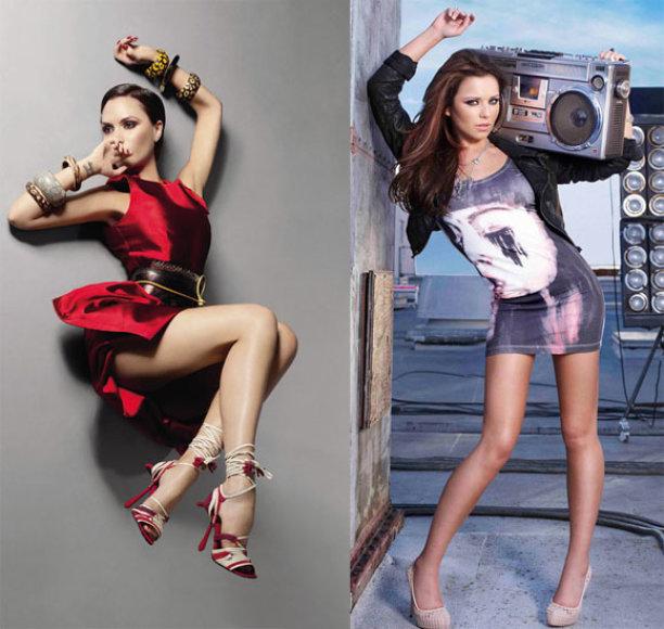 Victoria Beckham ir Cheryl Cole