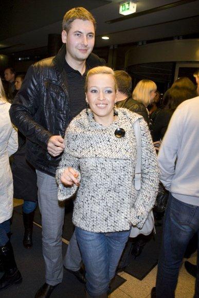 Elena Puidokaitė-Atlanta su draugu Donatu Kisielium