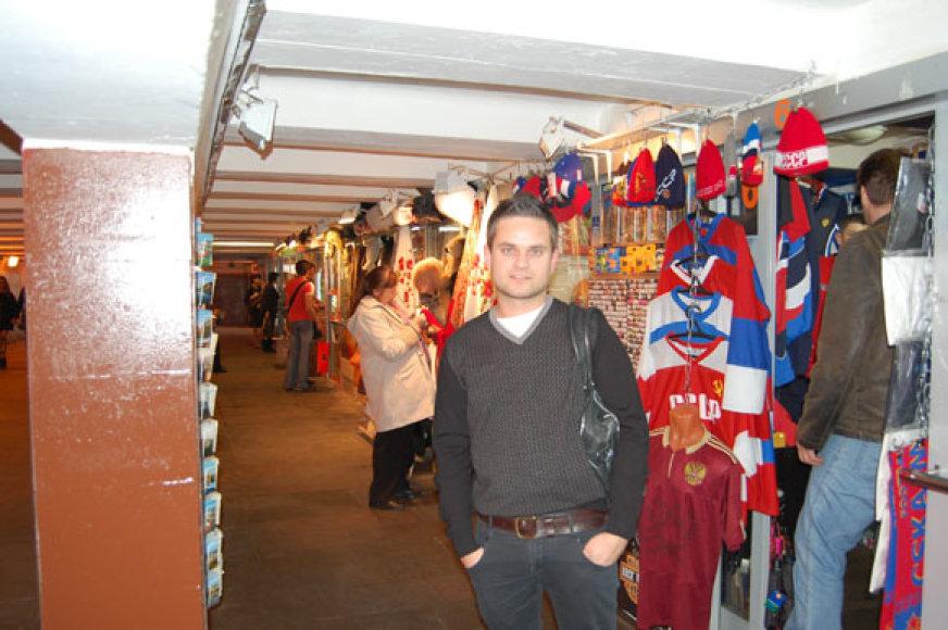 Edvardas Žičkus nepraleido progos apsilankyti Maskvos turgelyje